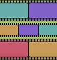 Film strips seamless pattern retro background vector