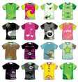 Colorful t-shirts vector