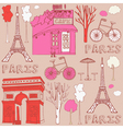 Paris elements background vector