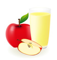Red apple juice vector