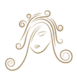 Girls face gold sketch vector