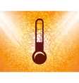 Thermometer flat modern web button and space for vector
