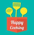 Happy cooking vector
