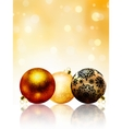 Beautiful gold happy christmas card eps 8 vector