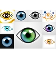 Mega collection of eye design templates vector