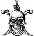 Jolly roger skull vector