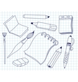 Set of office tools vector