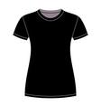 Black t-shirt design template vector