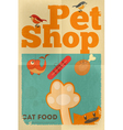 Pet shop poster cat vector