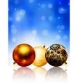 Beautiful blue happy christmas card eps 8 vector