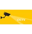 Cctv icon orange vector