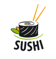 Logo japanese food sushi vector