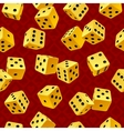 Yellow dice seamless background vector