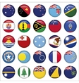 Set of australian oceania round flag icons vector