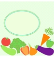 Card with different vegetables vector