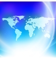 World map on a blue background vector