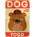 Pet shop poster bulldog vector