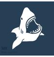 Danger shark silhouettes set vector