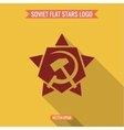 Logo star hammer and sickle flat style vector