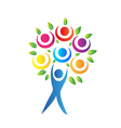 Tree teamwork logo vector