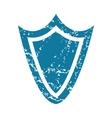 Grunge shield icon vector