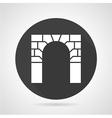 Brick archway black round icon vector