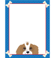 Dog bone frame vector