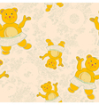 Baby floral pattern vector