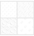Set of four seamless backgrounds with circles vector