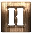 Wooden figure h vector