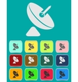 Satellite dish - icon isolated vector