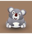 Cute baby koala vector