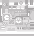 Mechanical industrial background vector