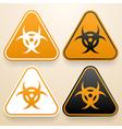 Set of triangular signs of danger of white black vector