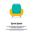 Vintage colorful sofa vector