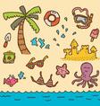Doodle beach vector
