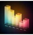 3d bar graph vector