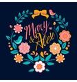 Flower wedding invitation card mary and alex vector