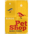 Pet shop poster bird vector
