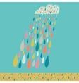 Cloud and colored drops weather backdrop autumn vector