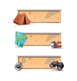 Hiking banners horizontal vector