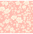 Seamless texture with different flowers vector
