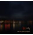 Blurred defocused lights of night city vector