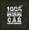 Car service emblem vector
