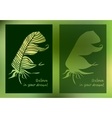 Hand drawn feathers and text card on blurred vector
