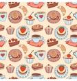 Coffee seamless cartoon pattern vector