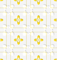 Perforated squares with yellow flowers pattern vector