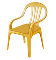 An orange chair vector