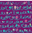 Seamless pattern with ligature swirly ornaments vector