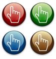 Hand buttons vector